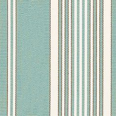 LINDEN HILL STRIPE, Aqua, W8437, Collection Courtyard from Thibaut