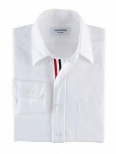 CLASSIC OXFORD BUTTON DOWN SHIRT WITH GROSGRAIN PLACKET |THOM BROWNE. NEW YORK /