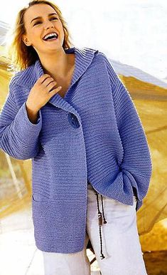 Pullover Mode, Crochet Shawls And Wraps, Crochet Cardigan Pattern, Mohair Sweater, Knit Jacket, Knitting Designs, Sweater Fashion, Mantel, Knitwear
