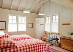 Looking for Country Bedroom ideas? Browse Country Bedroom images for decor, layout, furniture, and storage inspiration from HGTV. Inverness, Cottage Style, Farmhouse Style, Farmhouse Decor, Wood Cottage, Farmhouse Bedrooms, Cottage Bedrooms, Lake Cottage, White Cottage