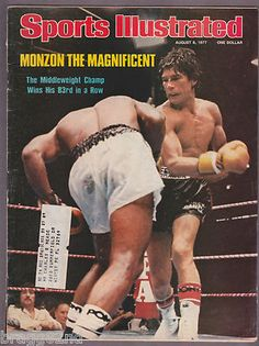 1977 August 8th SPORTS ILLUSTRATED magazine CARLOS MONZON Boxing