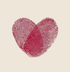 Fingerprint heart - such a good idea for so many things.