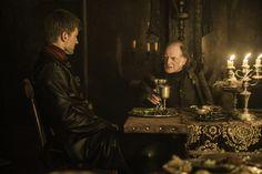 Game of Thrones, Season 6, Episode 10 - Nikolaj Coster-Waldau as Jaime Lannister and David Bradley as Walder Frey. Credit: Helen Sloan/HBO