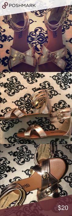 Brand New!!! MK rose gold girls sandals Little girls! Super cute never worn! New with stickers! Beautiful rose gold MICHAEL Michael Kors Shoes Sandals & Flip Flops
