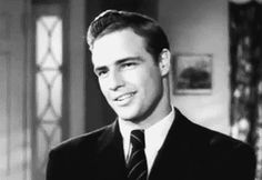 Marlon Brando has the sexiest eye roll I've ever seen (Screen test - Rebel Without A Cause)