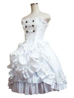 Fantasy corset dress (White)