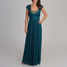 Decode 1.8 Women's Teal Embellished Neckline Gown | Overstock.com Shopping - The Best Deals on Evening & Formal Dresses
