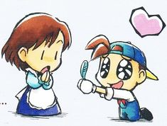 Worthless Newbie uploaded this image to 'Harvest Moon'. See the album on Photobucket. Harvest Moon Fomt, Harvest Games, Ranch, Rune Factory, Gaming Tattoo, Blue Feather, Moon Lovers, Cute Chibi, Moon Art