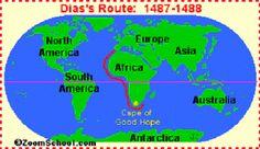 Dit is de reis van Diaz naar kaap de goede hoop die hij als eerste Europeaan bereikte dit was een expeditie
