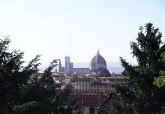 Vista da Piazzale Michelangelo, ponto mais alto de Florença.
