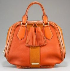 Obsessed with orange purses right now!