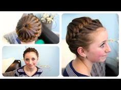 Starburst Crown Braid | Updo Hairstyles | Cute Girls Hairstyles. I all a bow or flowers. Its a perfect sport up do or just for the hot summer