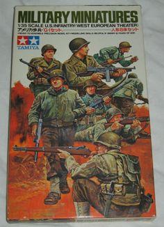 7 DAY AUCTION - TAMIYA 1:35 Military Miniatures Model Kit WWII US INFANTRY West Europe Model Kit