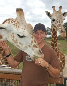 Harry Connick Jr. And giraffes?  Seriously, it couldn't get better if he had a hedgehog on his shoulder!
