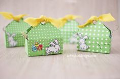Stampin' Up! Envelope Punch Board Easter Basket + Lawn Fawn Happy Easter