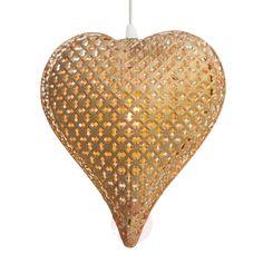 Suspension en forme de cœur Fride, dorée-1563027-31 Heart Shapes, Lighting, Bedroom, Kid