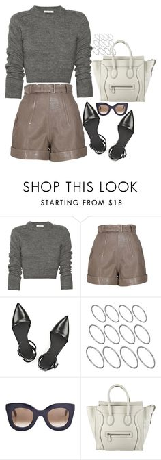 A fashion look from February 2016 featuring long sleeve crop sweater, embellished shorts and strappy pointed flats. Browse and shop related looks. Winter Outfits, Summer Outfits, Cute Outfits, Summer Clothes, Female Clown, Hipster Fashion, Winter Looks, Grey Sweater, Alexander Wang