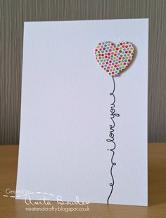 Hi there Today, I'm delighted to be Guest Designing at CASology . Simple Birthday Cards, Homemade Birthday Cards, Birthday Cards For Boyfriend, Homemade Cards, Diy Valentines Cards, Valentine Greeting Cards, Love Cards, Diy Cards, Calligraphy Cards