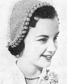 1951 Hat with Popcorn Edge Vintage Crochet Pattern PDF by annalaia