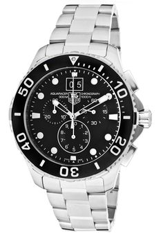 Special Offers Available Click Image Above: Tag Heuer Men's Aquaracer Chronograph Blue Dial Stainless Steel Watch Ax Watches, Top Watches For Men, Sport Watches, Dress Watches, Tag Heuer Quartz, Tag Heuer Aquaracer Chronograph, Mens Gear, Beautiful Watches, Stainless Steel Watch