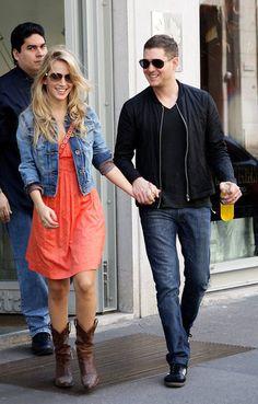 Michael Bublé and Luisana Lopilato