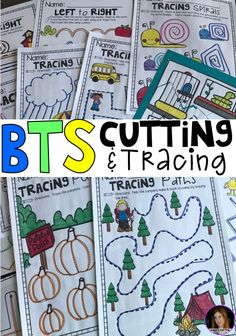 Back to School Cutting and Tracing Worksheets for Preschool and Kindergarten is a no prep packet packed full of worksheets and printables to help reinforce and build fine motor and writing skills through fun and engaging activities