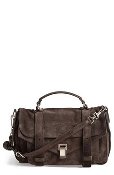 Proenza Schouler 'Medium PS1' Suede Satchel available at #Nordstrom... OMG i REALLY want this bag !!