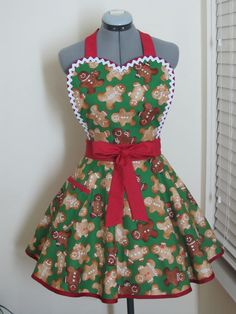 The GingerBread Men Heart Shaped Sexy Apron by AquamarCouture, $39.99