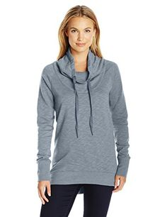 Columbia Womens Down Time Pull Over Trade Winds Grey Heather Medium -- Click image for more details.