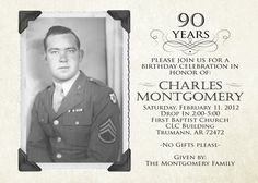 1292 Best 90th Birthday Invitations Images 90 Birthday 90th