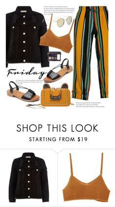 """""""Casual"""" by beebeely-look ❤ liked on Polyvore featuring River Island, RVCA, Laura Mercier, casual, stripes, sandals, casualfriday and sammydress"""