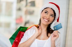 The holiday season isn't right around the corner, but savings are – if you know where to look.: Happy woman Christmas shopping with a credit card. Rewards Credit Cards, Best Credit Cards, Free Credit Score, Credit Card Offers, Small Business Credit Cards, Happy Women, Christmas Shopping, 5 Ways, Fitness