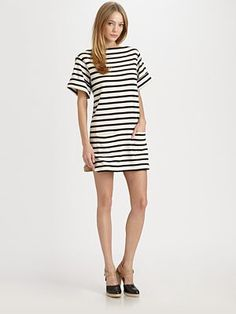 Nagat Striped Dress / Malene Birger #dress