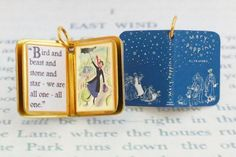 Miniature Book Charm Quote Pendant- Mary Poppins by P. Travers - for charm bracelet or necklace. Custom available! Dainty Jewelry, Charm Jewelry, Charm Bracelets, Mary Poppins Book, Book Necklace, We Are All One, Book Jewelry, Classic Books, Etsy Seller