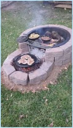 Easy and Cheap Fire Pit and Backyard Landscaping Ideas 2 - fence Cheap Fire Pit, Diy Fire Pit, Fire Pit Backyard, Fire Pit Plans, Outdoor Fire, Outdoor Decor, Outdoor Living, Outdoor Furniture, Backyard Fireplace