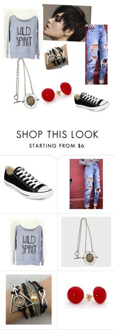 """Hogsmeade Meeting"" by gryffandclaw ❤ liked on Polyvore featuring Converse"