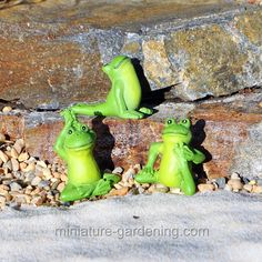Yoga Frogs, Set of 3, Options - $3.29