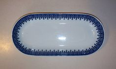 Vintage Blue and White Shenango China Pottery Celery by GoodAndOld, $13.00