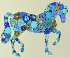 UNTERNOMMEN um den bestellen Button Kunst von PaintedWithButtons