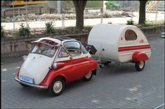 BMW Isetta mit Wohnwagen