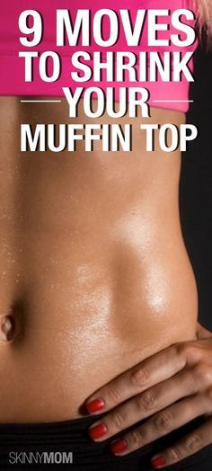 No more muffin top with these 9 belly shrinking moves! #Fitness #Exercises