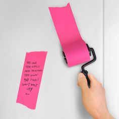 This classic roller 'paints' on a fresh layer of self-stick notepaper wherever you need it most. Just trim it to whatever size you like. It's a paint job with a purpose. Please allow 3-7 days for delivery.