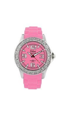 Montre Colori Strass pink.Colori Watch