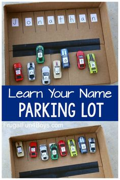 Learn Your Name Parking Lot - Preschool Name Activity