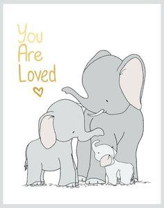 Famille d'éléphant que vous êtes aimé par SweetMelodyDesigns