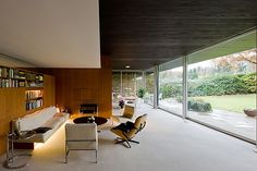 Richard Neutra - I love a minimalist simplicity, and the beautiful backdrop of nature.  I could get lost in a book on the sofa, and I don't so much enjoy that.  I would just pass the day there doing what I do.
