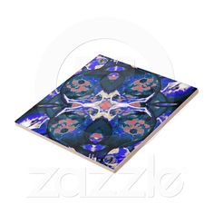 Decorative Retro tile from Zazzle.com    decorative , blue , nature , retro , red , symmetric , female , flower , digital , elegant , decoration , women , teens , flowers , natural