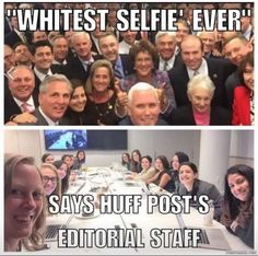 Wow, it's great to see how diverse the Huffington Post is. I'm not surprised, they run biased articles all over the time. I consider them slightly above the Washington Post.  Me: I use the Washington Post to wrap fish and other smelly garbage; I'd do the same to the Huff Post, but I'd have to print it out-and my conscience  abhors such a waste of trees.
