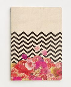Chevron Flora II as Notebook by Bianca Green | JUNIQE