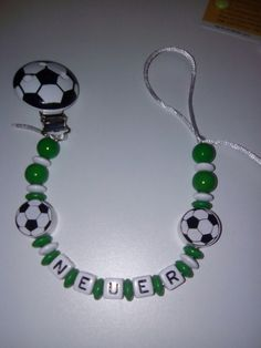 Fußball Schnullerketten   www.finilaedchen.de